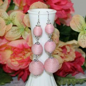 Light Pink Bon Bon Crispin Ball Earrings